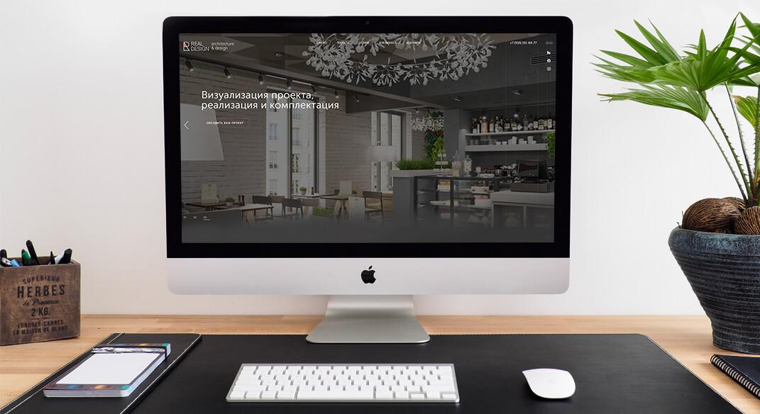 Разработка корпоративного сайта компании дизайна интерьеров Real Design
